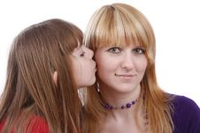 Free Daughter Kissing Her Happy Mother. I Love My Mom. Stock Image - 8887931