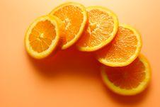 Free Color Orange Slices Royalty Free Stock Photos - 8888158