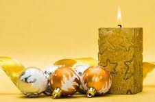 Golden Candle Stock Photos