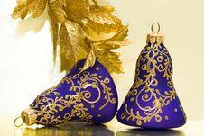 Violet Celebration Bells Royalty Free Stock Photo
