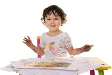 Paints. Stock Photography
