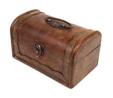 Antique Rustic Wooden Box Royalty Free Stock Images