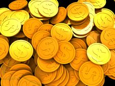 Free Coins Background Stock Image - 8888521