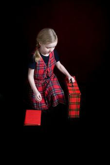Free Little Girl Going To School Stock Photos - 8889013