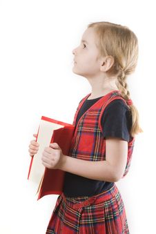 Free Schoolgirl And The Book Stock Photo - 8889050