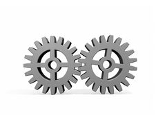 Free Two Gears Joined Together Stock Photos - 8889843