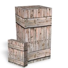 Free Wooden Boxes For The Shipment Of Goods Royalty Free Stock Photos - 8889938
