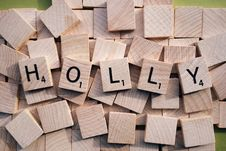 Free Name Holly In Wooden Cubes. Stock Photography - 88813972