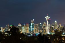 Free Seattle By Night Royalty Free Stock Photos - 88814058