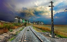 Free Railway Track Past Engineering Plant Royalty Free Stock Photos - 88814928