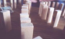 Free Wood Domino Blocks Stock Photos - 88814973
