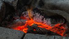 Free Burning Coals  Stock Images - 88894274