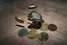 Free Close-up Of Coins On Table Royalty Free Stock Photos - 88895128
