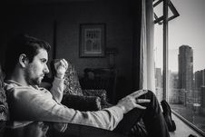 Free Pensive Man By Window Royalty Free Stock Photos - 88897138