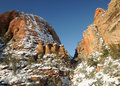 Free Canyon In Zion Winter 9 Royalty Free Stock Image - 8891066