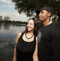 Free Young Couple By The Lake Royalty Free Stock Image - 8891506