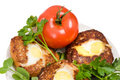 Free Cutlets And A Tomato. Stock Photos - 8892953