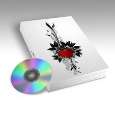 Book With A Heart Design Stock Images