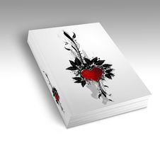 Book With A Heart Design Royalty Free Stock Photo