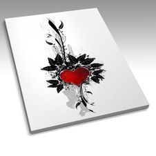 Book With A Heart Design Stock Photography