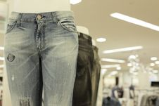 Free Jeans On Display Stock Image - 8890041