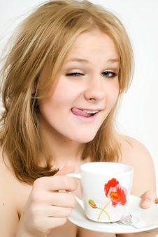 Free Young Woman With A Cup Stock Photos - 8890093