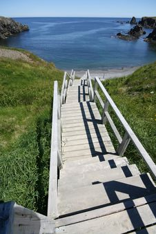Stairs To The Beach Royalty Free Stock Photo
