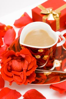 Free Red Cup Of Coffee Stock Photography - 8890582