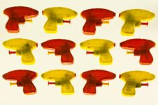 Free Plastic Toy Guns Royalty Free Stock Image - 8890906