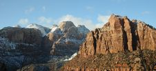 Free Snow In Zion National Park Royalty Free Stock Photo - 8891085