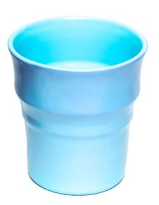 Free Blue Vase Isolated Stock Image - 8891111