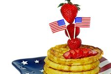 Free Patriotic Breakfast Royalty Free Stock Image - 8891696