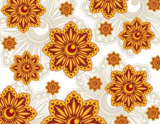Free Orange Flowers Wallpaper Stock Image - 8892291