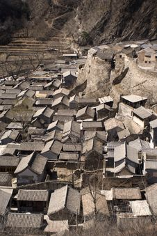 Old Chinese Traditional Village Panorama Royalty Free Stock Image