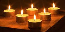 Free Many Lighted Candles Royalty Free Stock Images - 8893019
