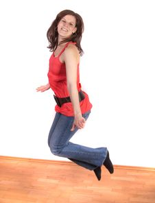 Free Jumping In Joy Royalty Free Stock Photography - 8893077
