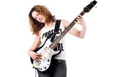 Free Sweet Girl With A Guitar Stock Images - 8895594
