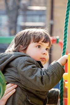 Free Child  On A Playground Stock Images - 8895864