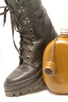 Free Boot With A Flask Royalty Free Stock Photos - 8895898