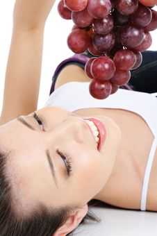 Free Fresh Bunch Of Grapes In Human Hands Stock Photography - 8896082