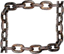 Free Old Rusty Chain Frame Royalty Free Stock Photography - 8896487