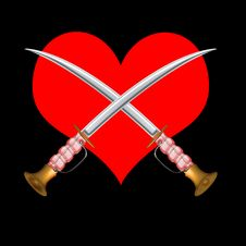 Free Sword Cross With Heartin Stock Photos - 8896683