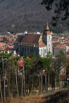 Black Church (Brasov) Romania Stock Photo