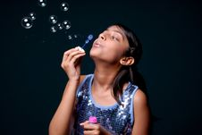Free Girl Making Soap Bubble Royalty Free Stock Photos - 8897218