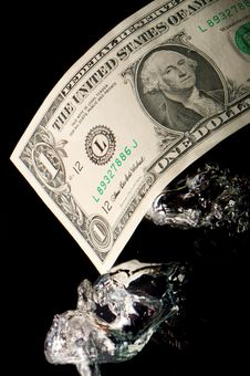 Free The Sinking Dollar Royalty Free Stock Photos - 8898518