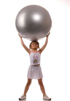 Free A Young Girl Stuffed Ball Royalty Free Stock Photos - 8898758