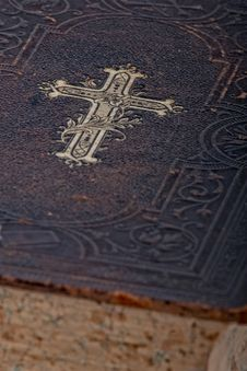 Free Vintage Bible Book, Closeup Stock Image - 8898771