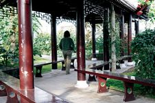 Chinese Long Corridor Royalty Free Stock Photos