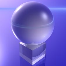 Free Sphere On A Pedestal Stock Photos - 8898983