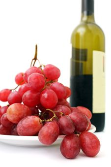 Red Grapes And Wine Royalty Free Stock Photo